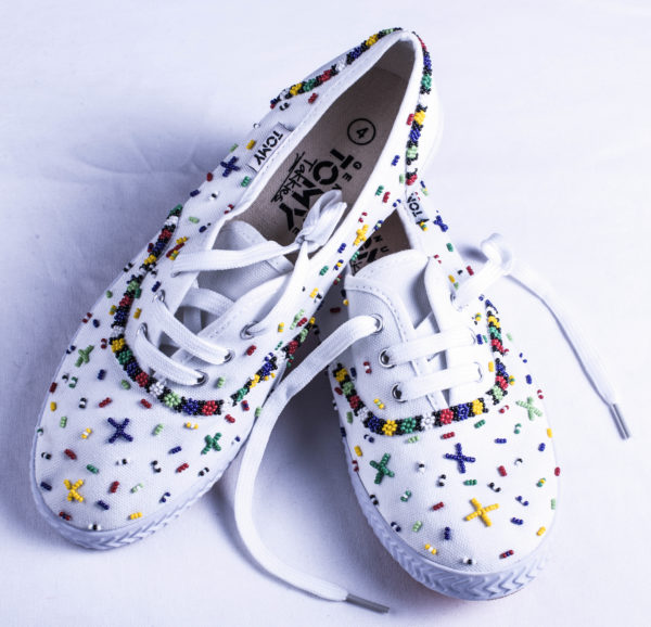 Beaded shoes - White