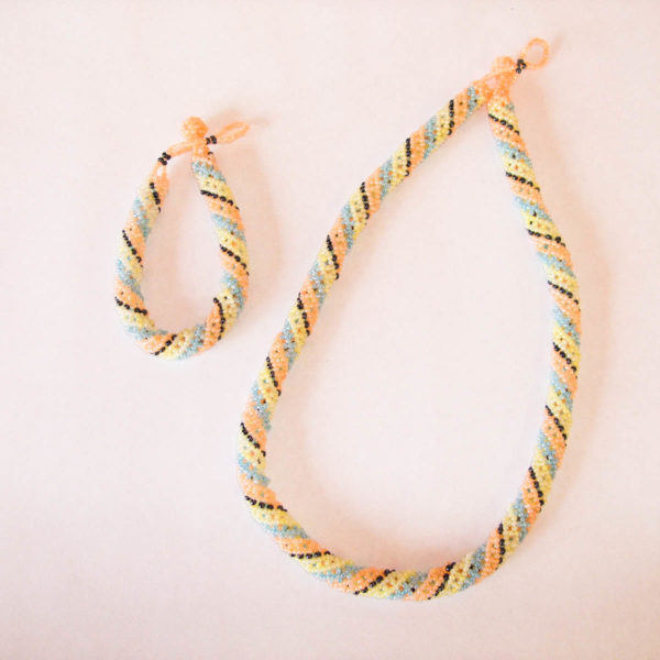 Necklace and Bracelet - Rope set