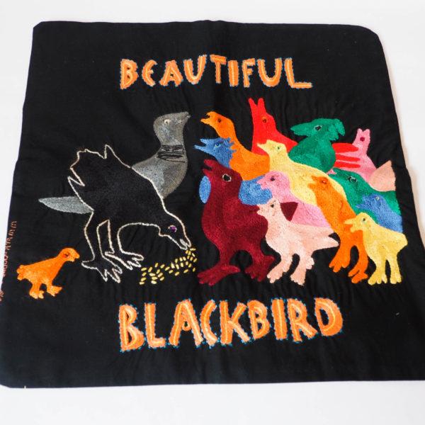 Cushion cover Black bird