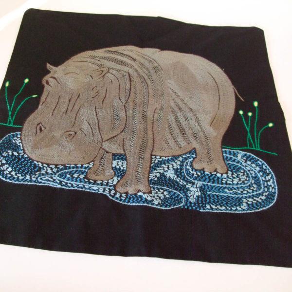 Cushion cover Hippo