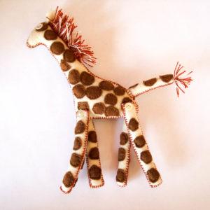 Giraffe felt safari