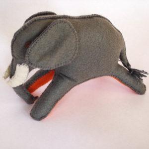 Elephant felt safari