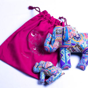 Elephant & baby in a bag