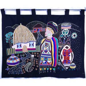 Wall hanging – African homestead