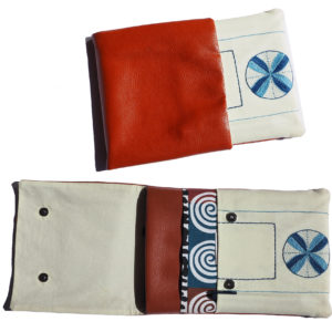Multi Pocket Tablet Cover - Embroidered
