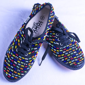 Beaded shoes - Navy