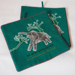 Pot Holders (Pair) Elephant