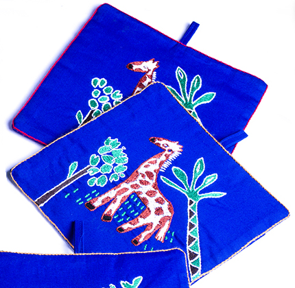 Pot Holders (Pair) Giraffe