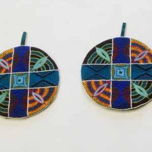Round Pot Holders (Pair) Mandala Pattern