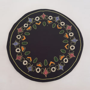 Circular Placemat Mixed Shapes Pattern