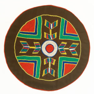Circular Placemats with Ndebele Pattern