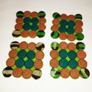 Trivet Coasters - Square set of 6