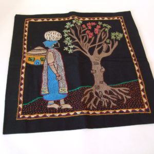 Cushion Cover - Woman and Tree