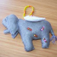 Small Felt Elephant Angels
